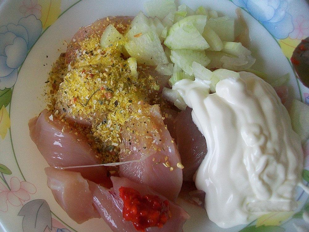Курица в духовке с картошкой и баклажанами с фото