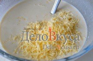 Блины на молоке: Добавляем твердый сыр