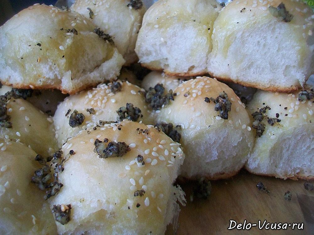 Рецепт пампушки с чесноком в хлебопечке