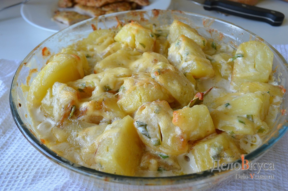 картошка с молоком в духовке рецепты