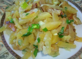 картошка жареная с луком