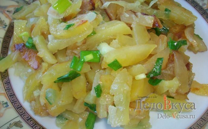 Жареная картошка. Жареная картошка с луком