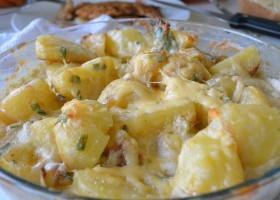 Запеченная картошка с сыром и сливками