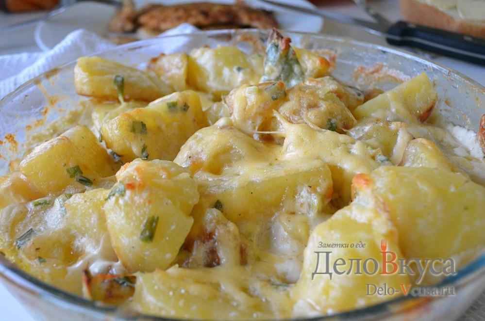 картошка в духовке со скумбрией рецепт с фото