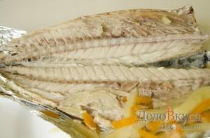 Скумбрия в фольге в духовке: Разделать рыбу