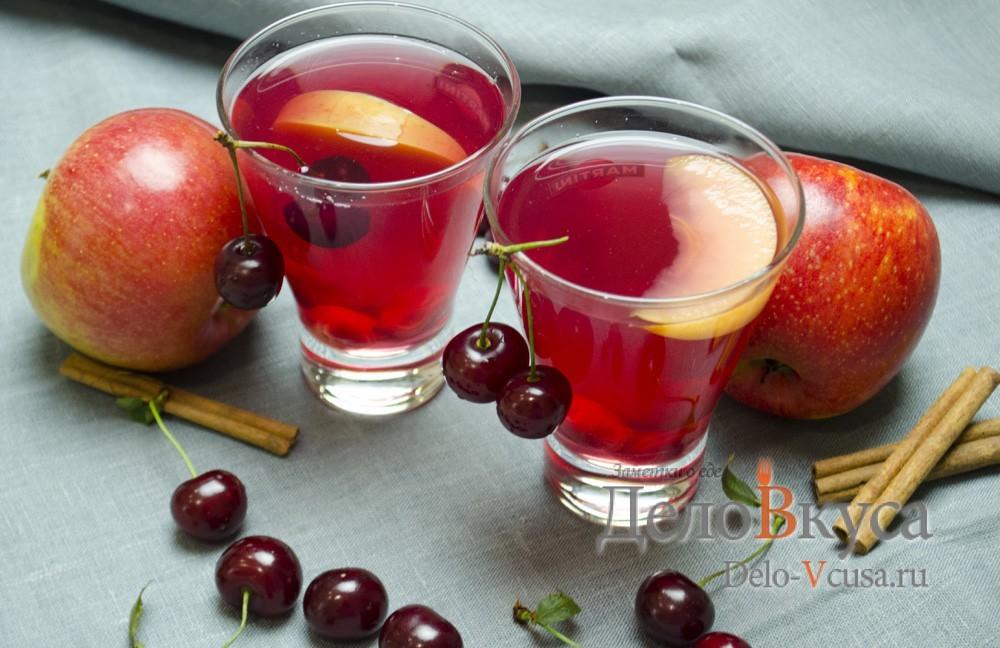 Как сделать компот из вишни и яблока