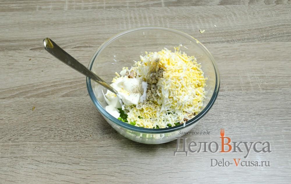 Салат с тунцом яйцами и майонезом