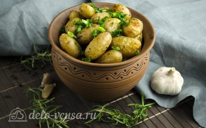 молодая картошка в духовке фото рецепт