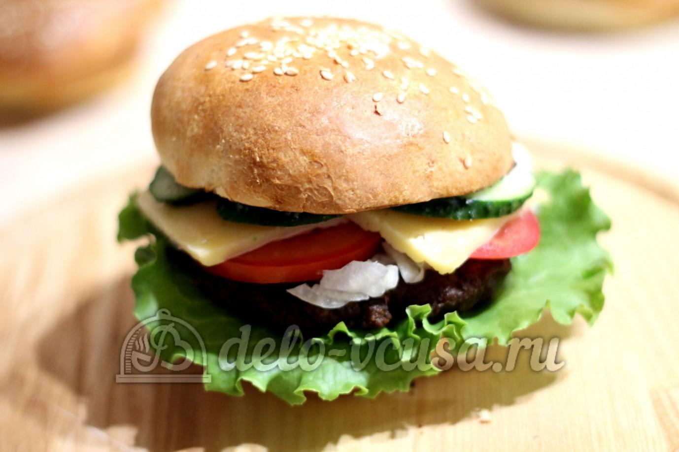 Как делать гамбургеры фото