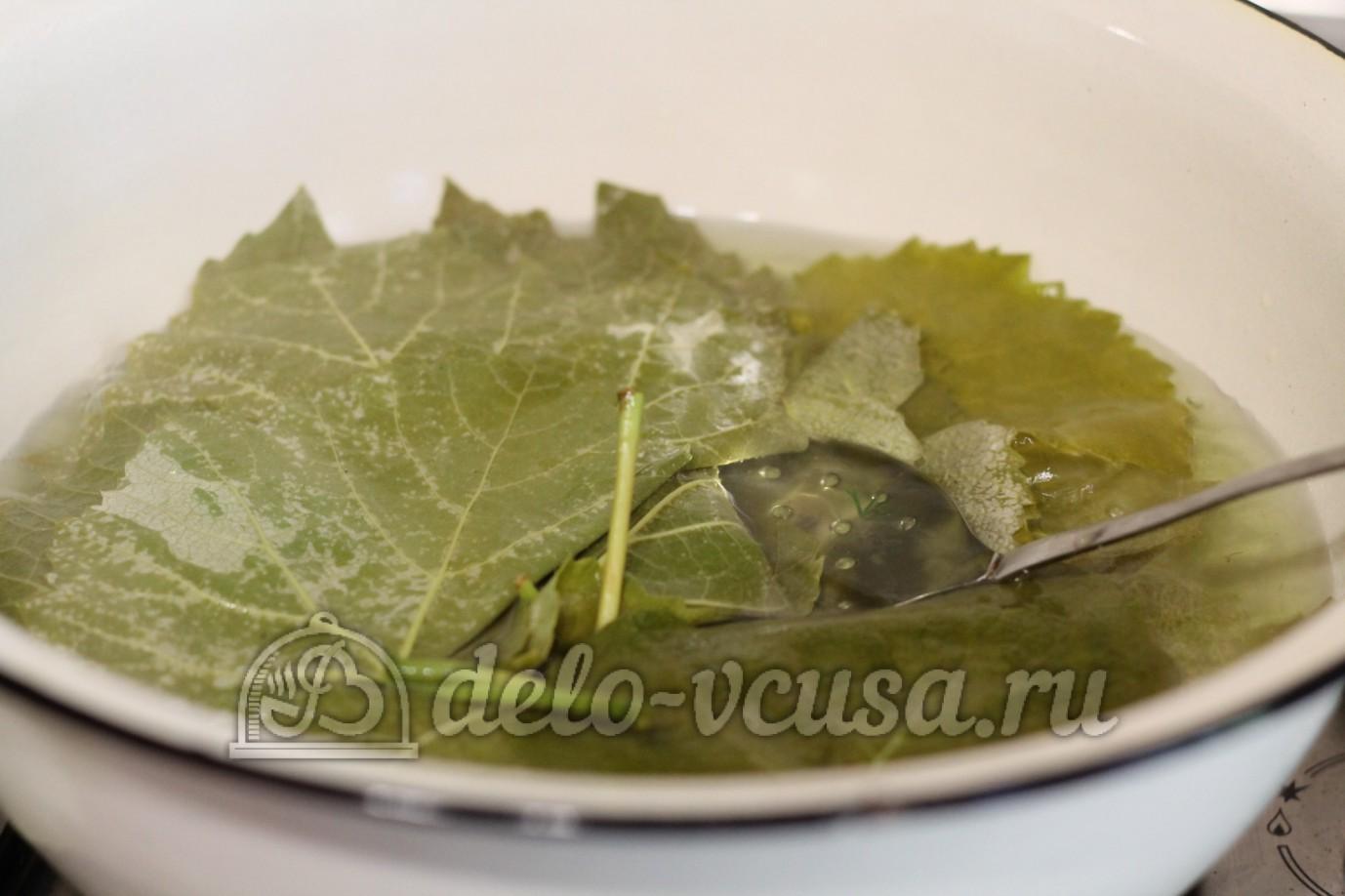 Долма в виноградных листьях рецепт пошагово в мультиварке