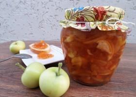 Варенье из яблок с апельсинами в хлебопечке