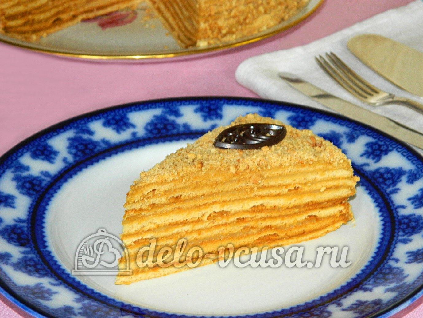 Торт медовый на заварном тесте