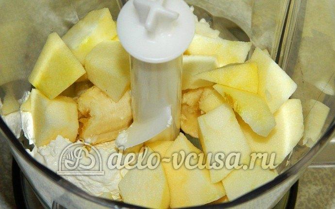 Десерт из творога и фруктов с пошаговым