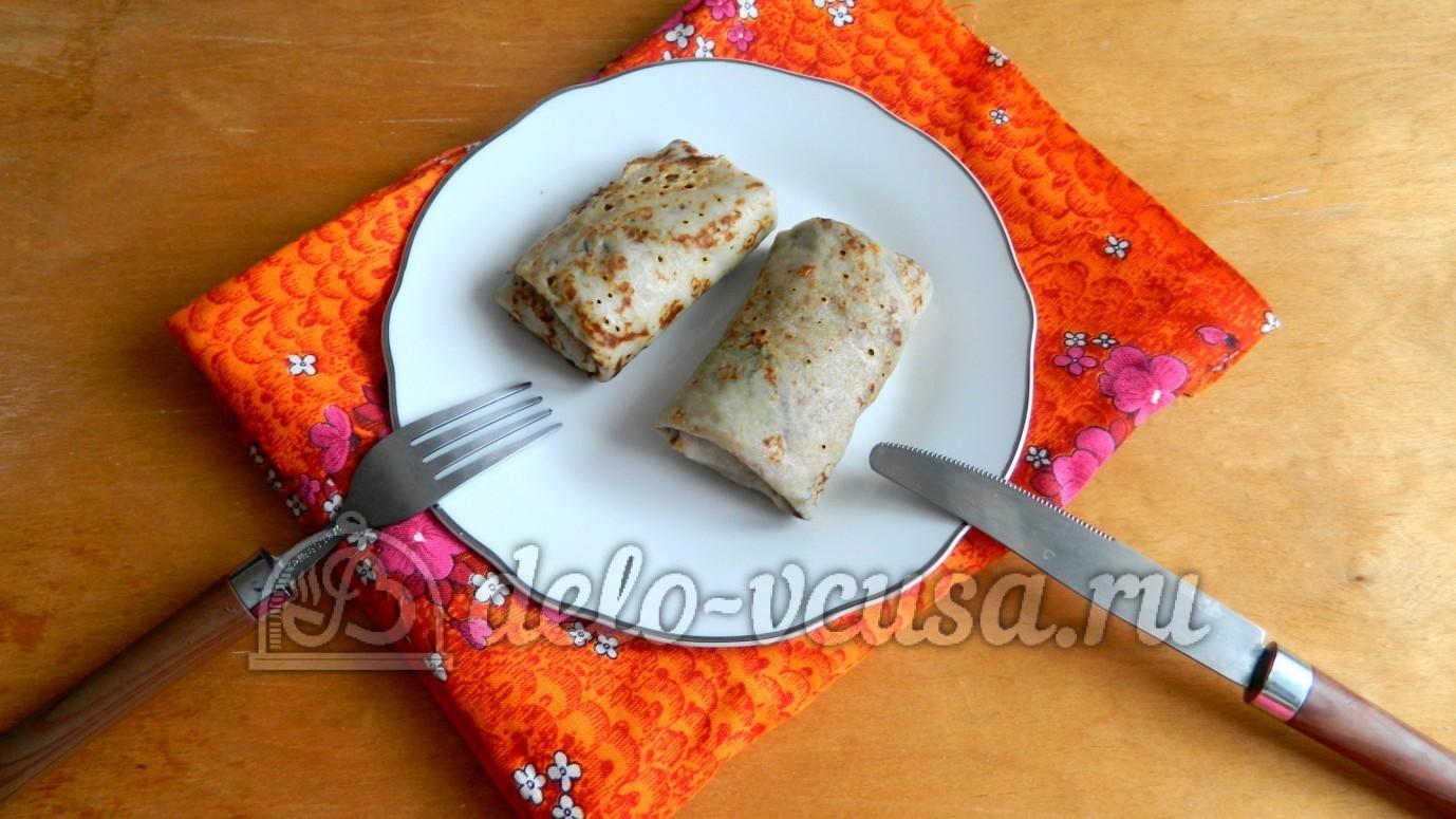Блинчики со свиной печенью рецепт пошагово