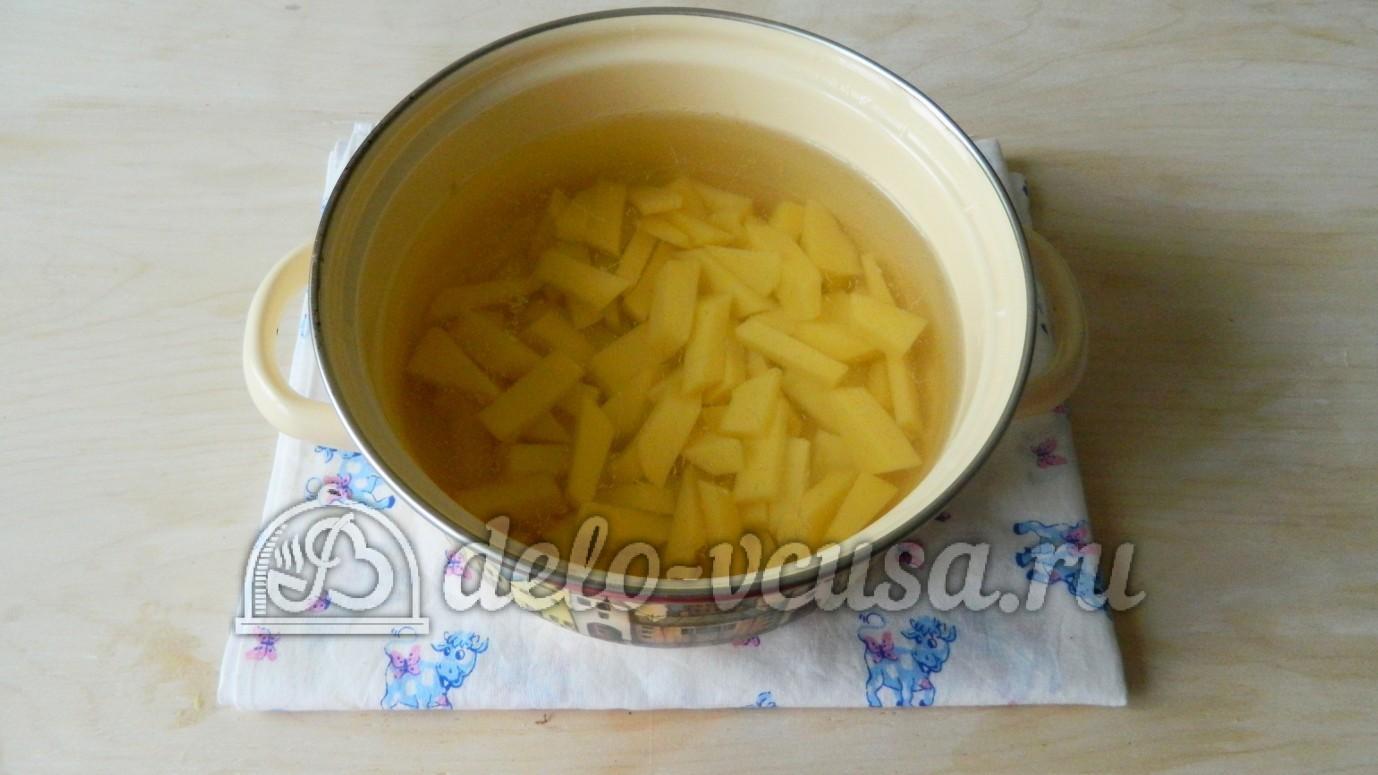 Суп с вермишелью курицей и плавленным сыром рецепт