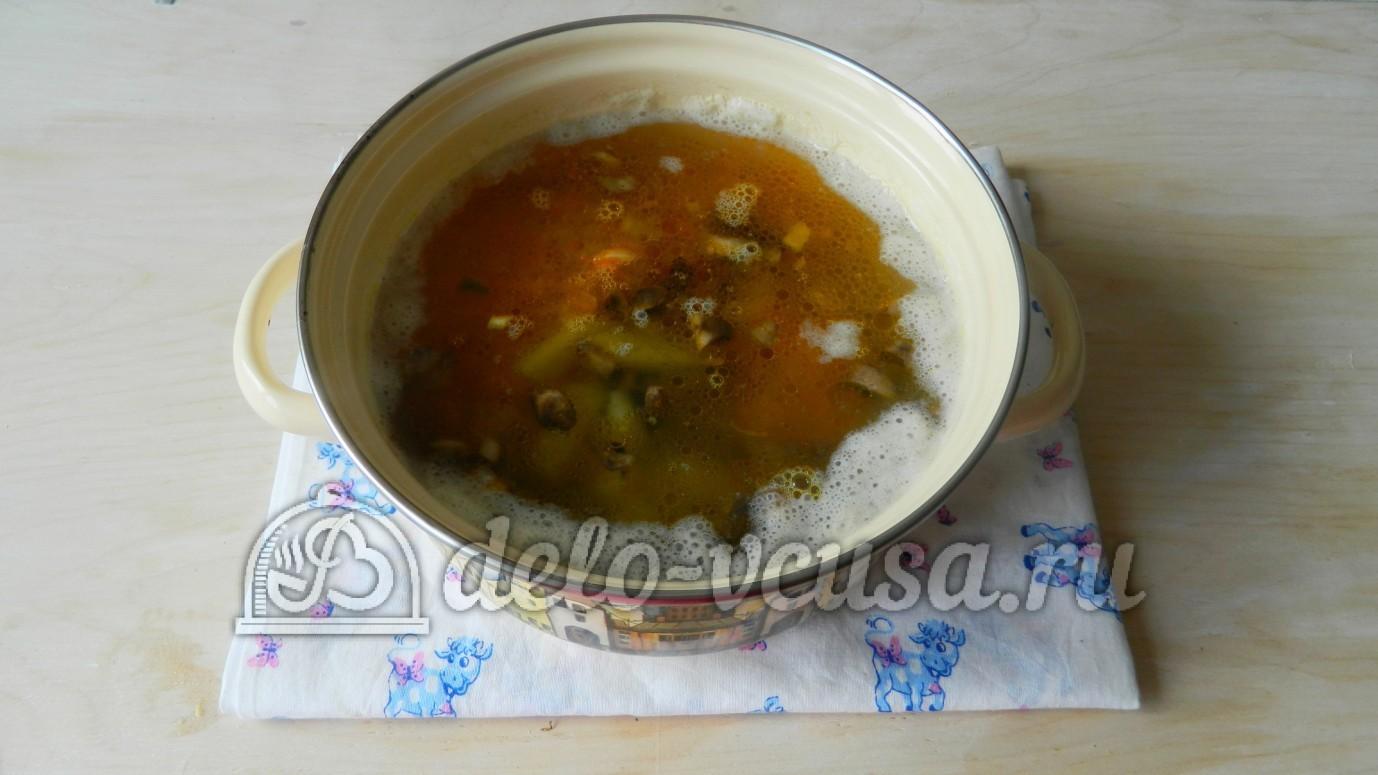 Суп с вермишелью и шампиньонами рецепт пошагово