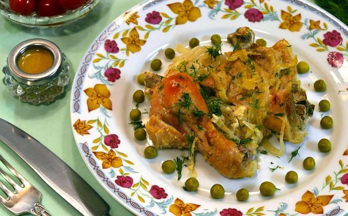 курица маринованная и запеченная в духовке рецепт и фото