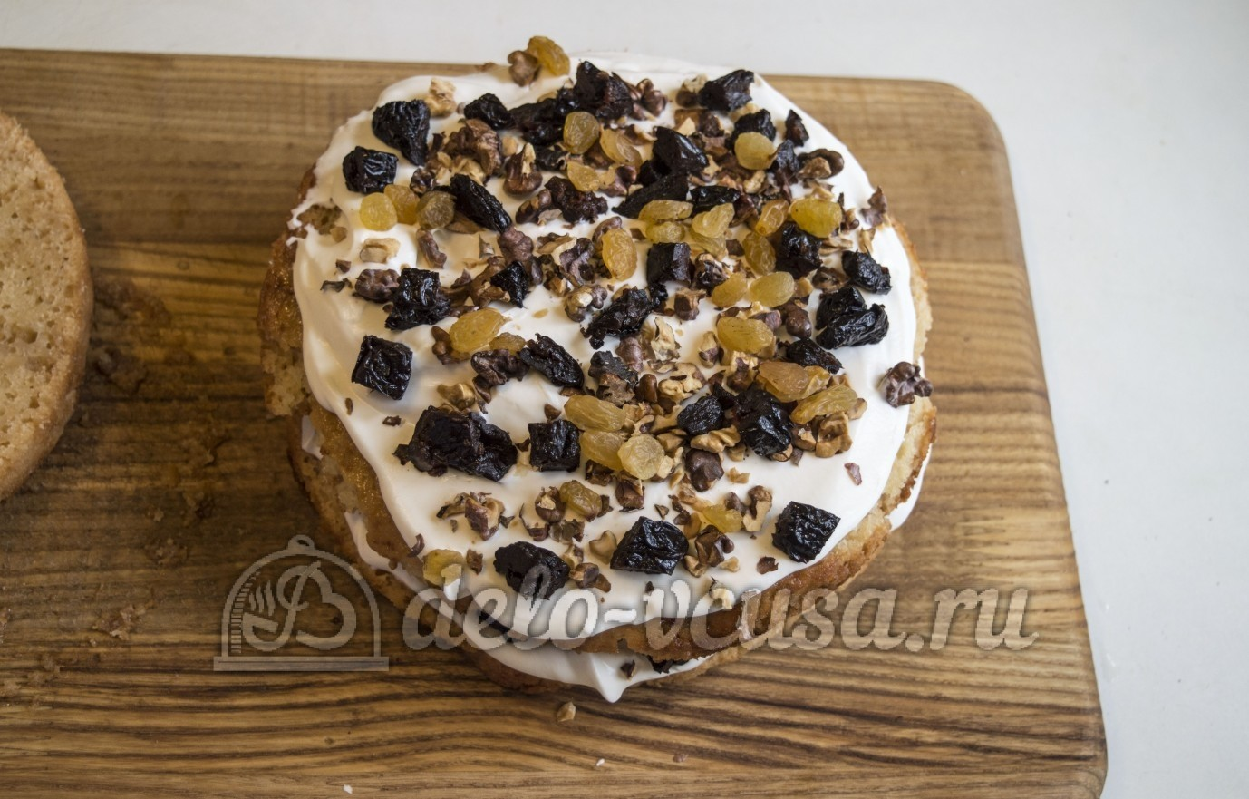 Торт медовый с орехами и черносливом рецепт 65
