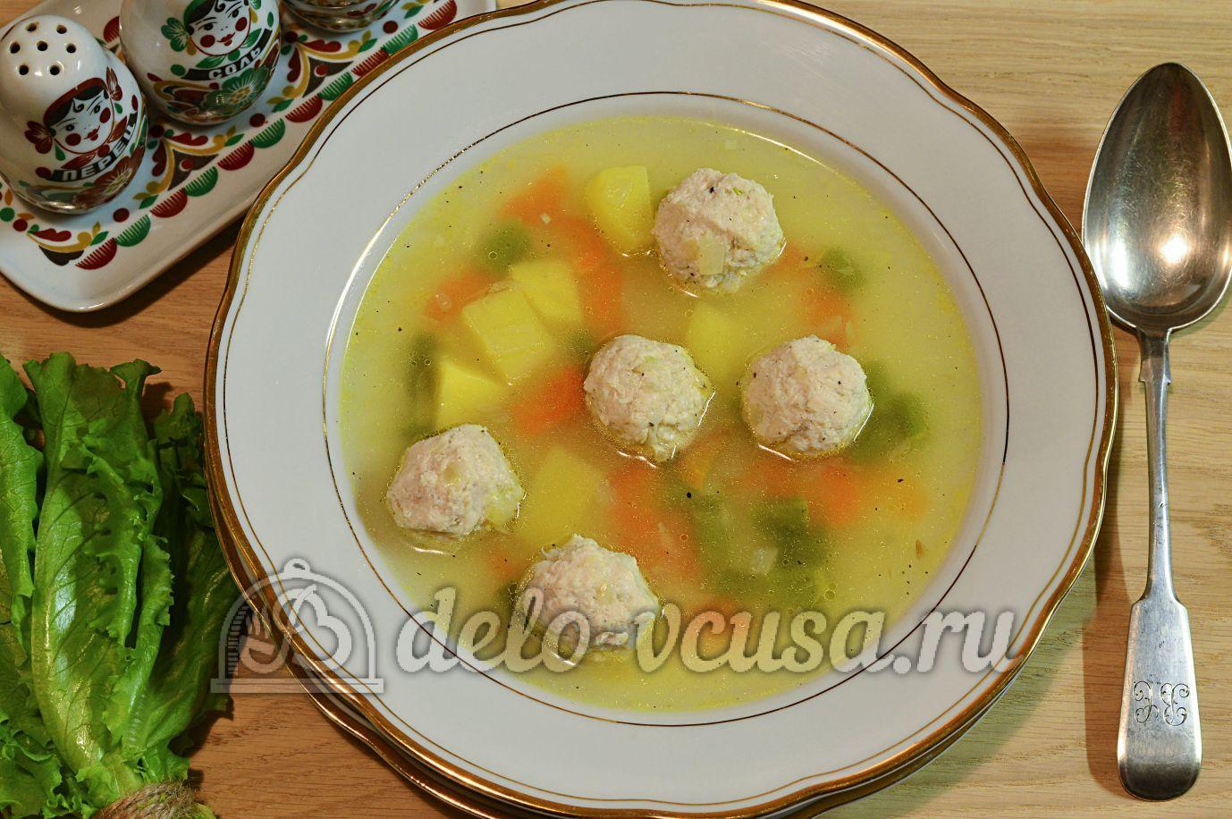 Суп с фрикадельками куриными рецепт с пошагово в