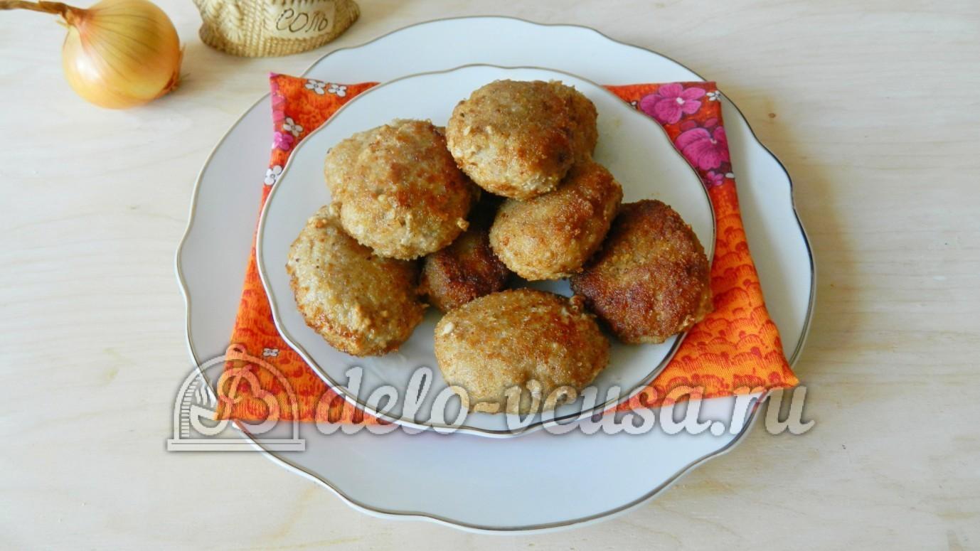 Рецепт котлет с грибами с пошагово