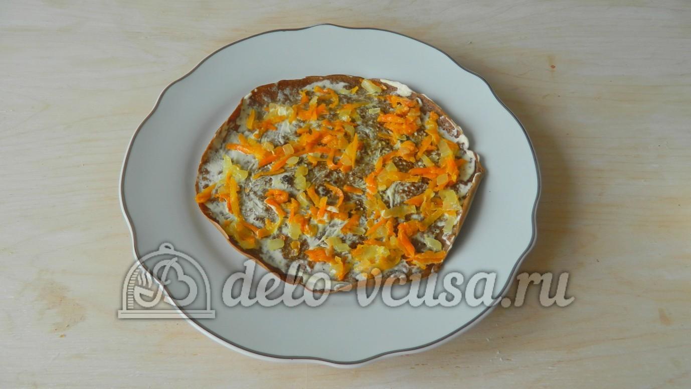 Печеночный торт с луком и морковкой рецепт пошагово