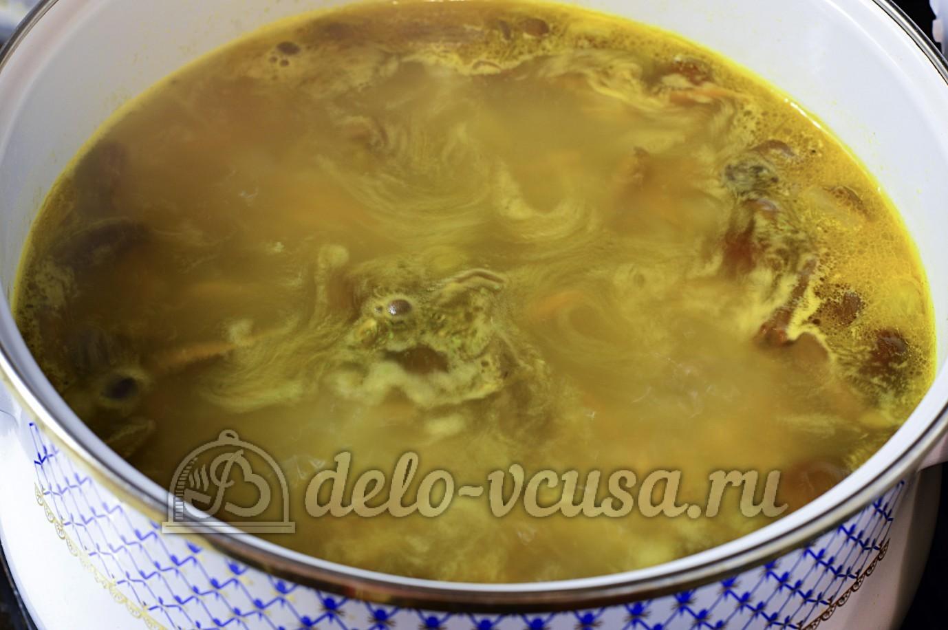 Грибной суп из опят пошагово