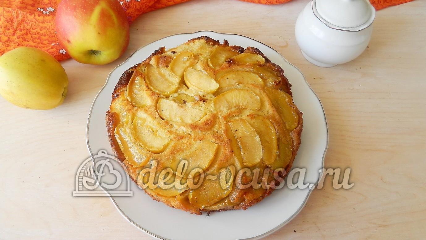 Пирог перевёртыш с яблоками рецепт с фото пошагово в духовке