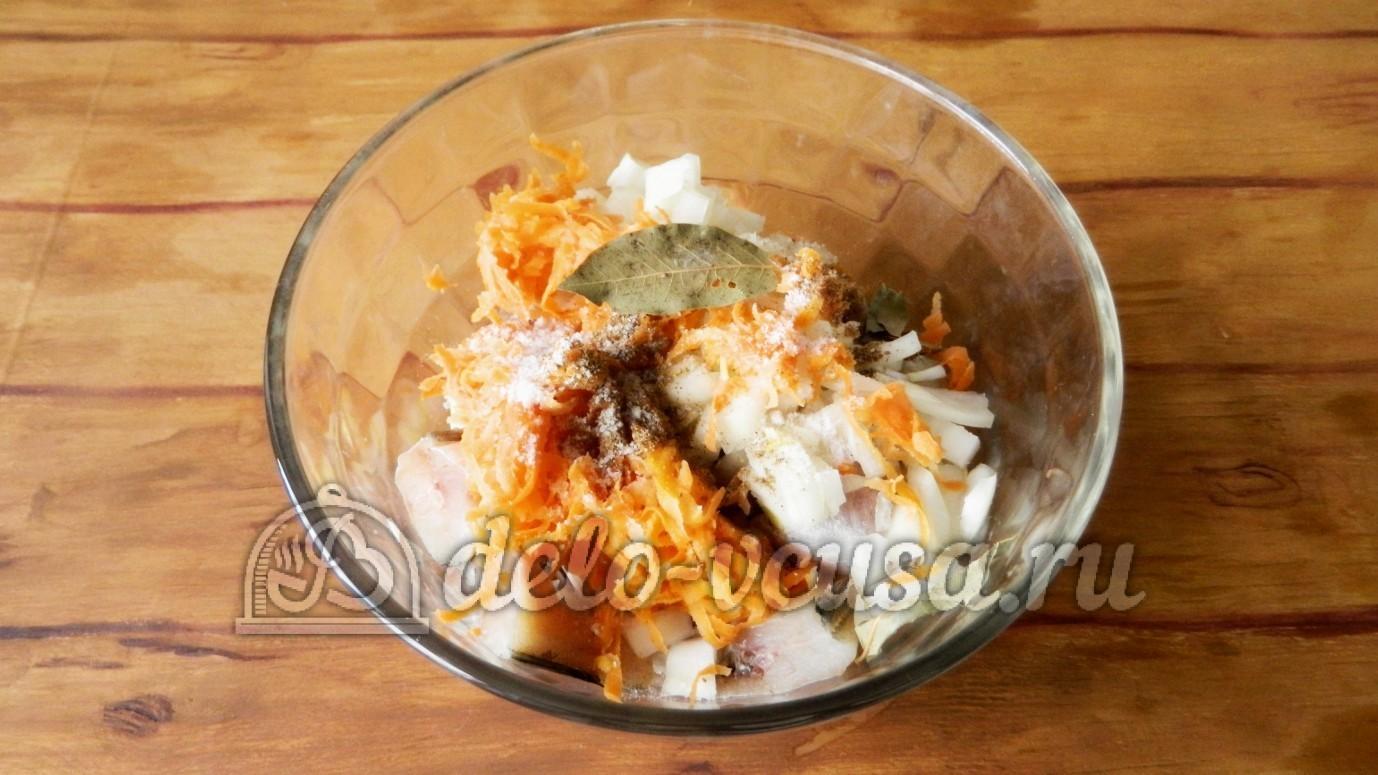Рыбный салат из минтая рецепт