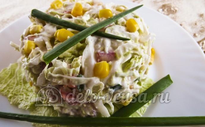 Салат из кукурузы консервированной капусты