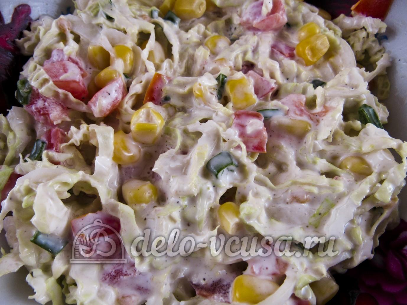 Диетический салат из пекинской капусты рецепты