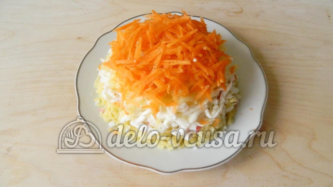 Салат с крабовыми палочками рецепт с слои очень вкусный