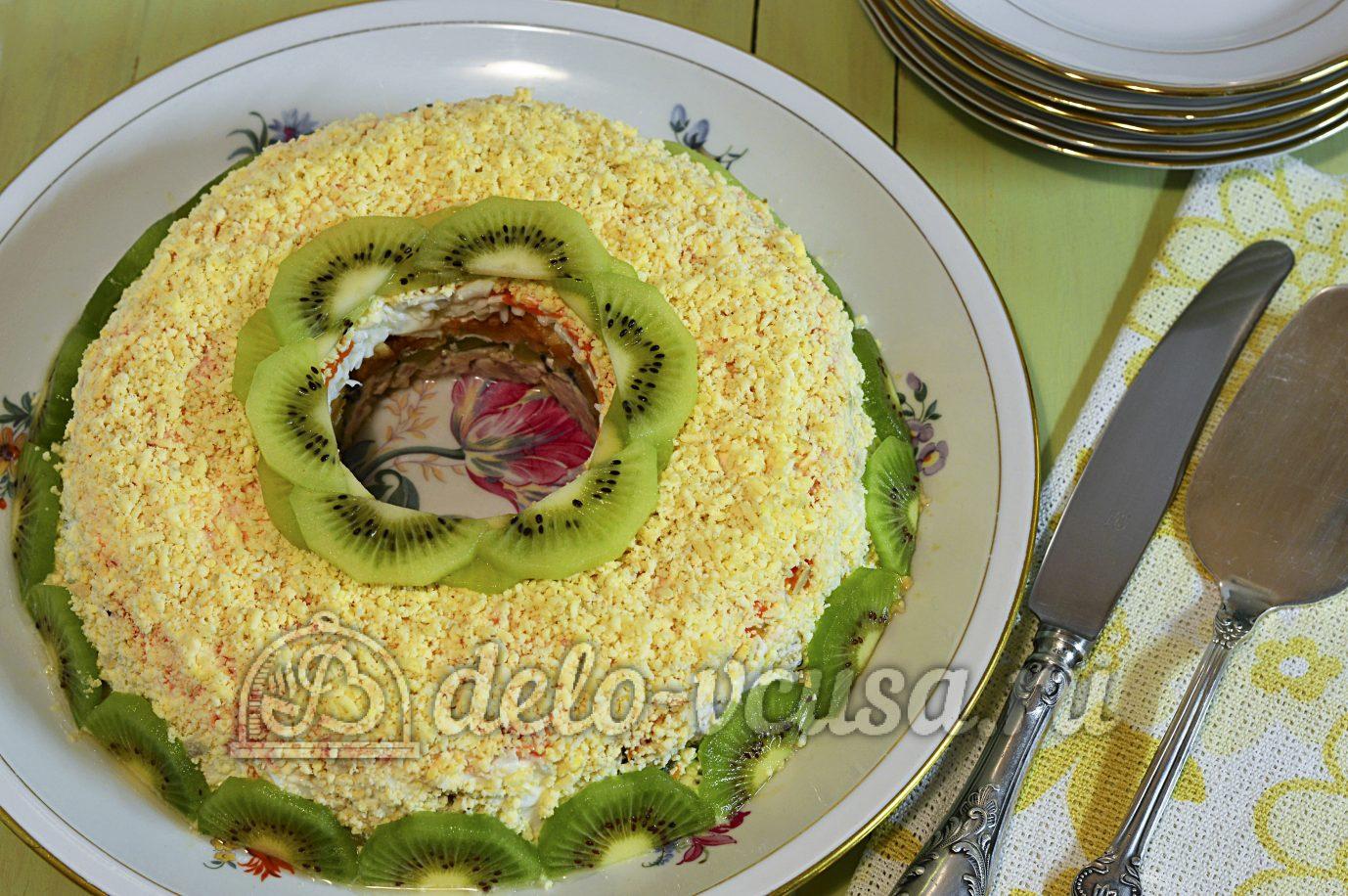 Салат малахитовый браслет пошаговый рецепт с
