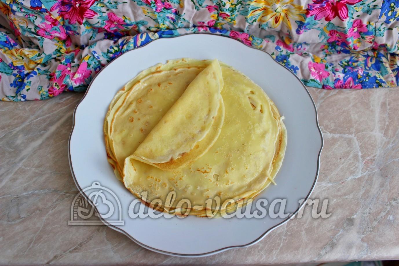 Блины на воде с яйцами пошаговый рецепт с фото пошагово
