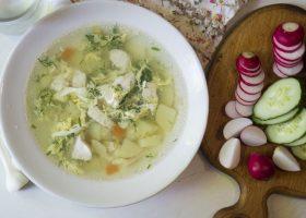 Суп с молодой картошкой и курицей