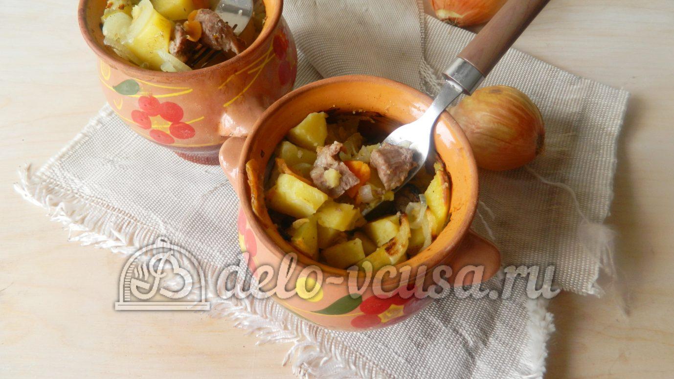 Свинина в картошкой в горшочке в духовке рецепт пошагово в
