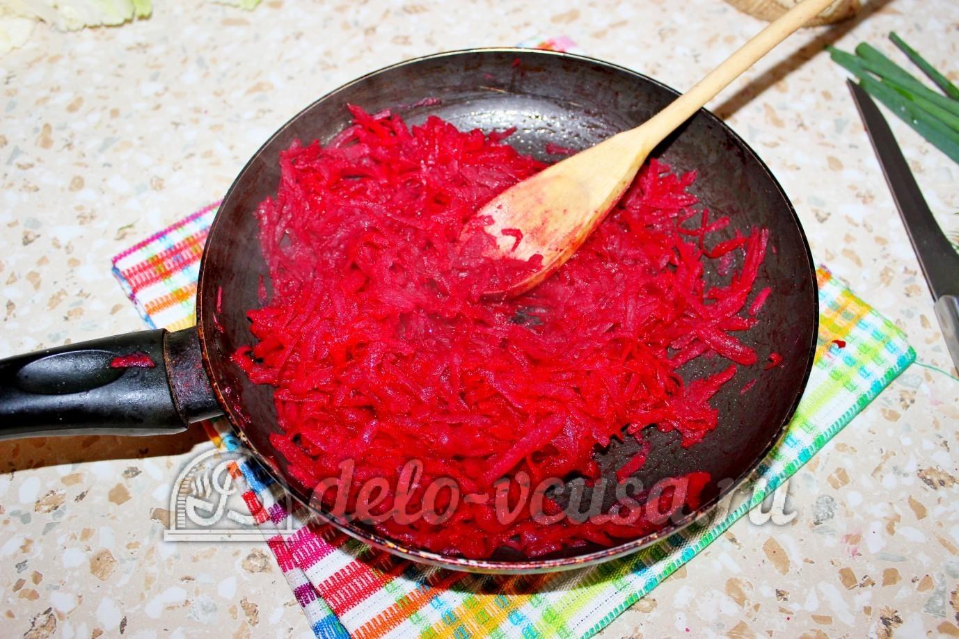 Как варить борщ со свеклой пошаговый рецепт пошагово