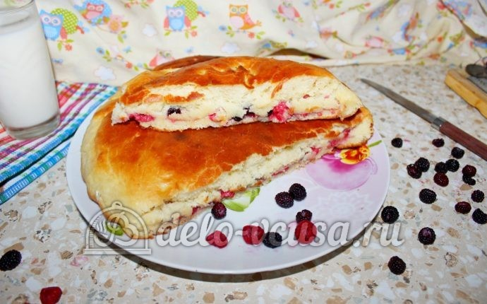 Пирог дрожжевой с малиной рецепт с пошагово в духовке