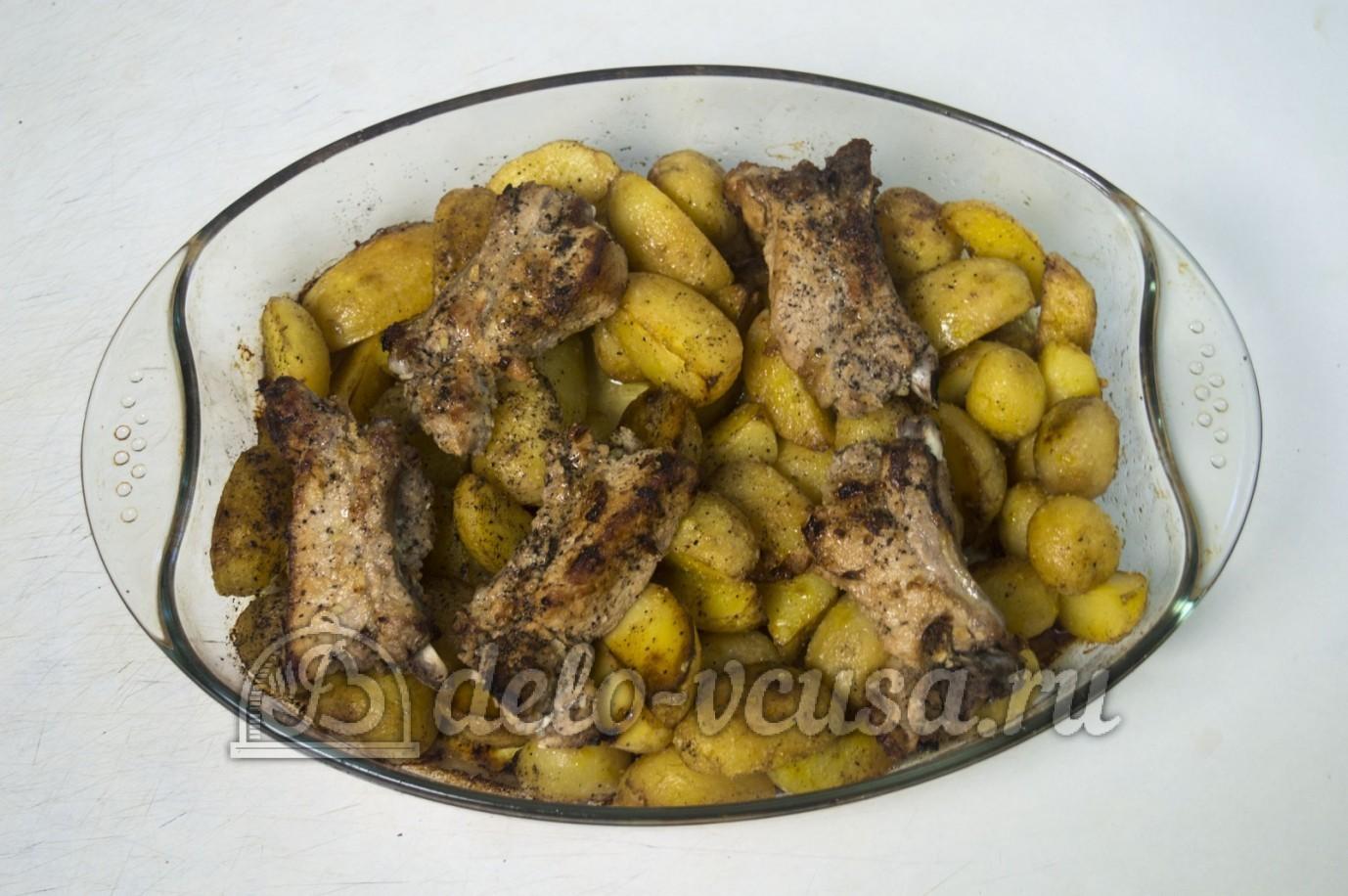Копченые ребрышки в духовке с картошкой рецепт