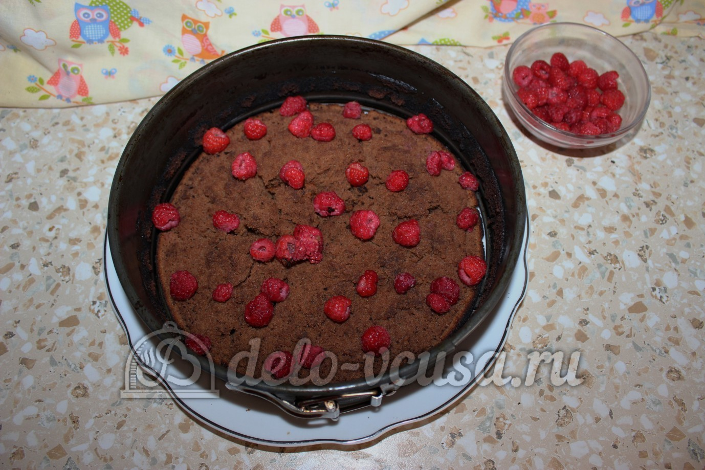 Торт с малиной пошаговое фото