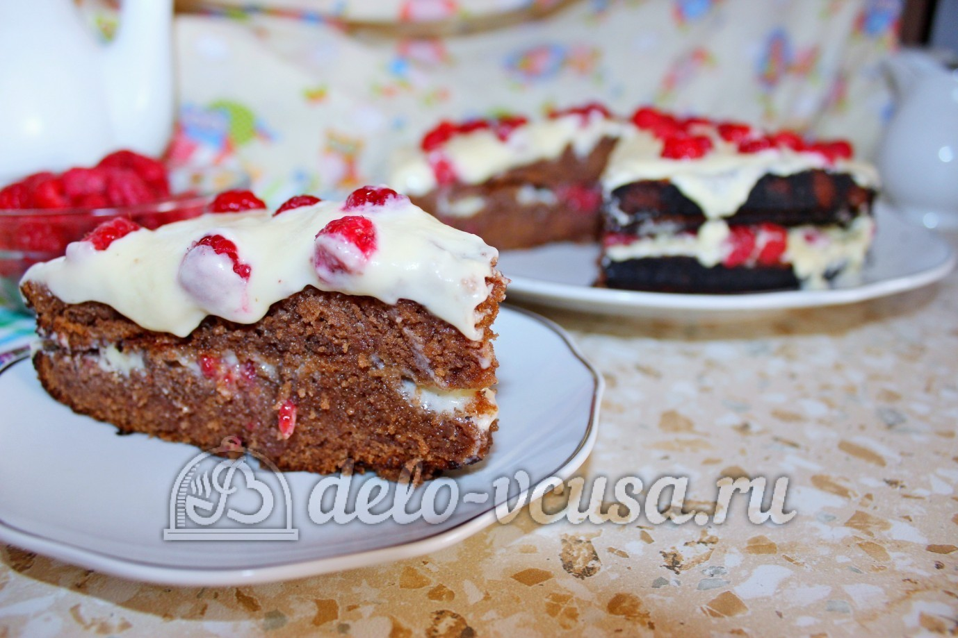 Тортик с малиной рецепт