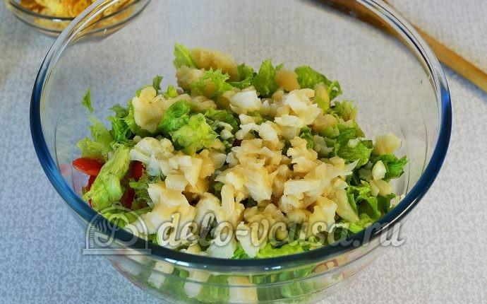 рецепты салатов с сухариками с фото