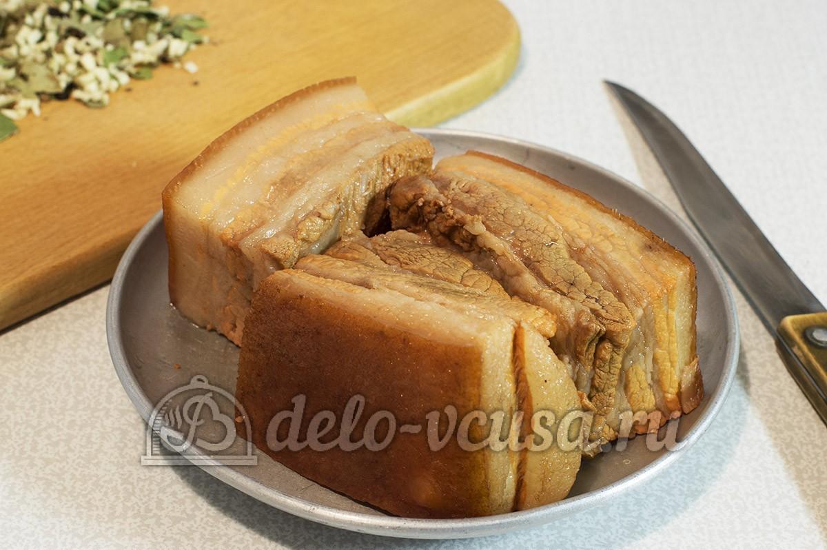 Рецепты как сделать сало в луковой шелухе