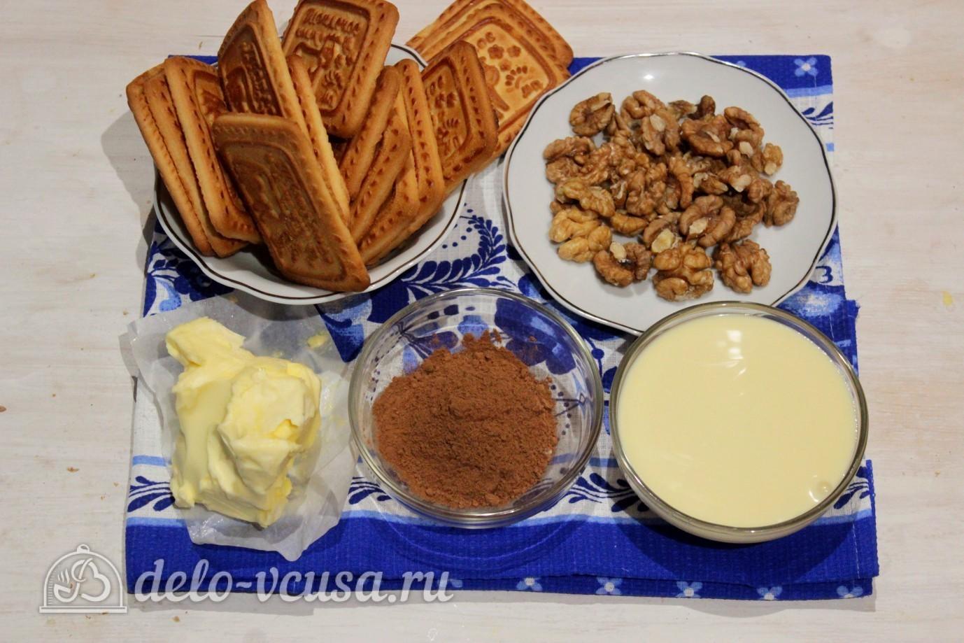 Пирожные картошка из печенья и сгущенки рецепт пошагово