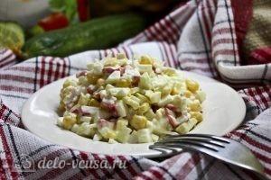 Крабовый салат с яблоком рецепт с