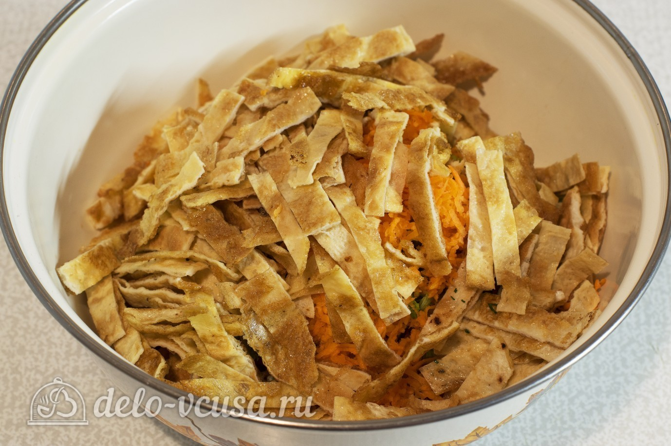 Яичные блинчики рецепт с для салата