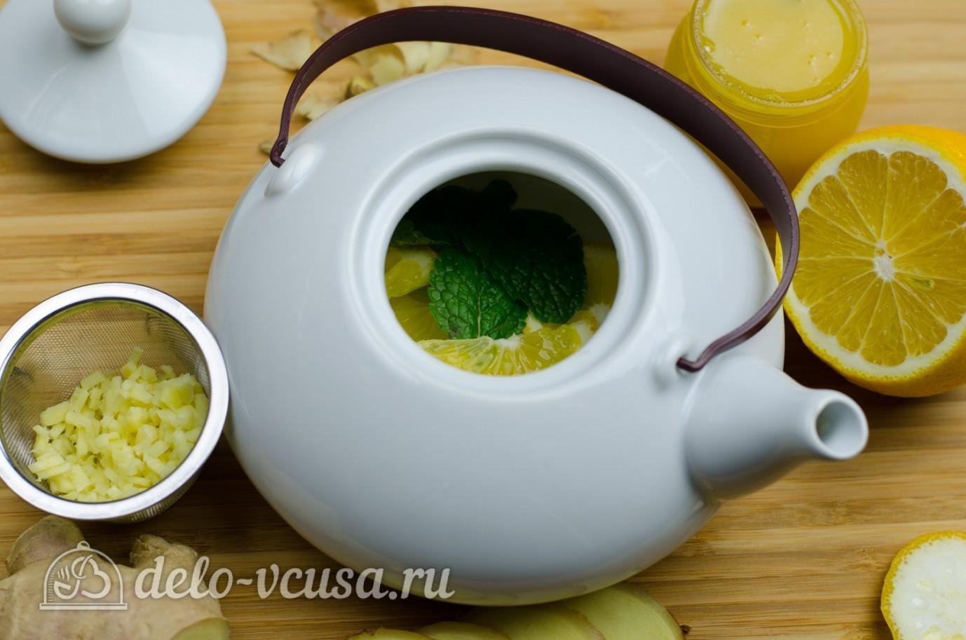 Тех. приготовления чая с лимоном