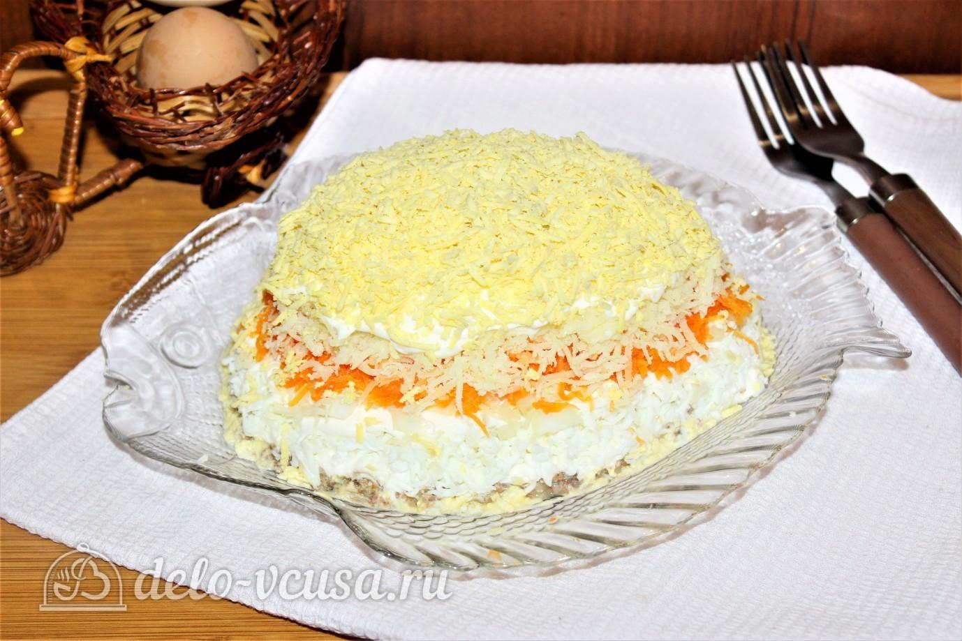Мимоза с сардиной рецепт классический пошаговый рецепт