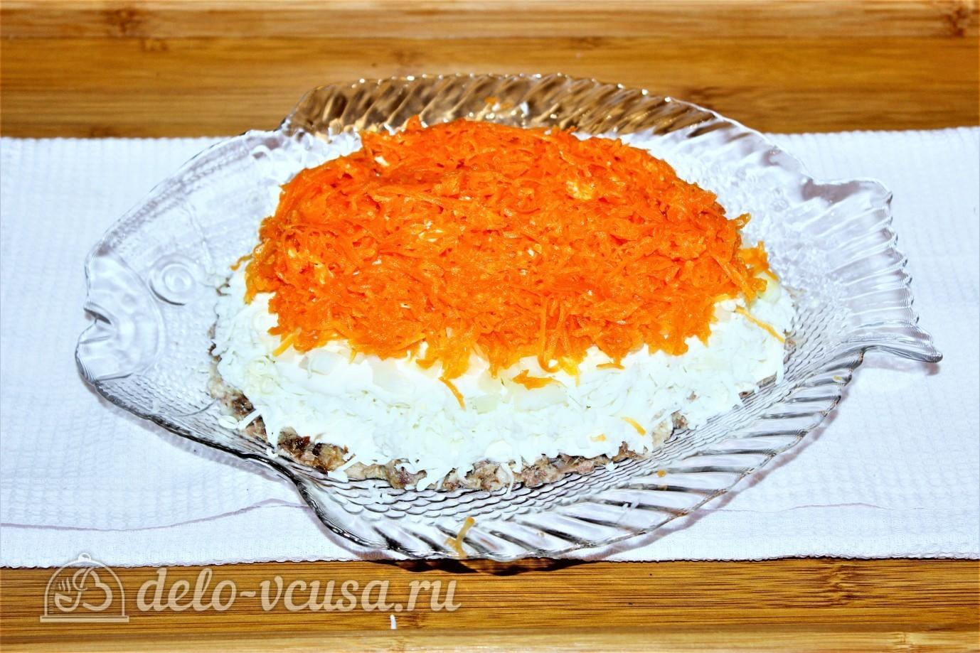 Рецепт мимозы с сардиной без морковки
