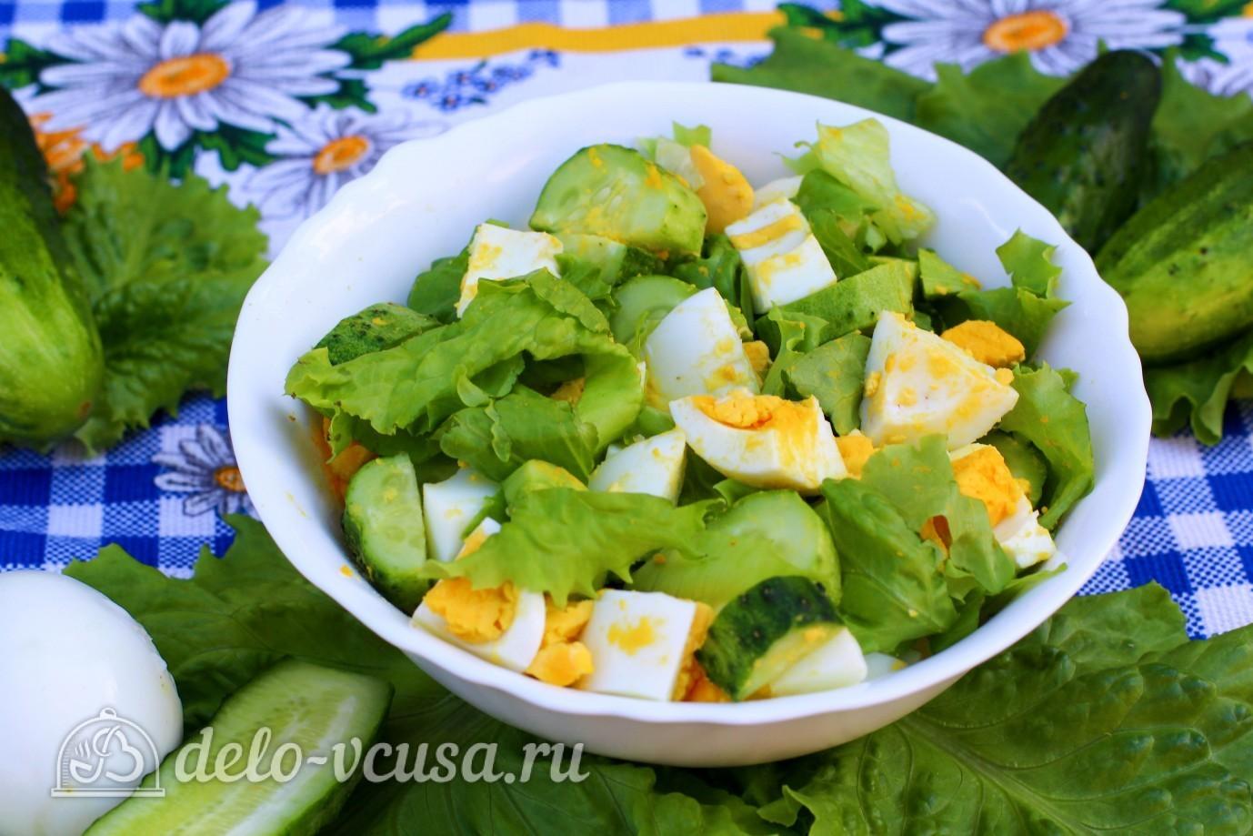 Салат из трески с яйцом и огурцом рецепт с