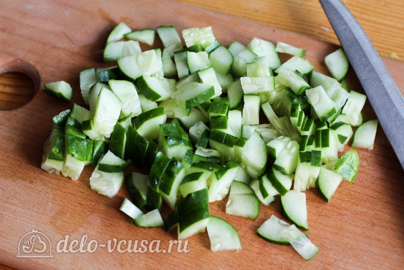 Салат с ветчиной огурцом сыром рецепт пошагово